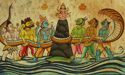 jyotish churning of the ocean amrita lord vishnu swarbanu vedic astrology reading renuka ramnunan